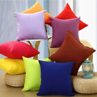 1PC Square Solid color Pillow Case Sofa Chair Cushion Cover Plain Room Decor image