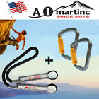 Outdoor Locking Carabiner + Climbing Rope Safety Rappelling Rescue Prusik Cord