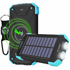 Portable Wireless Charging Power Bank Solar Powered 10000mAh Outdoor Charger