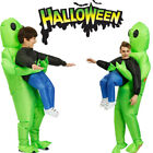 Halloween Adult Inflatable Monster Costume Green Alien Carrying Human Cosplay US