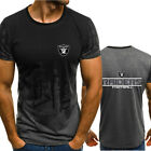 Oakland Raiders Football T-Shirt Men's Print Short Sleeve Jersey Casual Top Tee $26.47 CAD on eBay