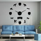 Whippet Dog Breed Saluki DIY Giant Wall Clock Wall Ar Mirror Effect Stickers