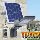30/20W Solar Wall Street Light Night Sensor Floodlight Outdoor Garden Spotlight