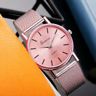 Fashion Quartz Watch Woman's Round Dial Silicone Band Analog Casual Wristwatch image
