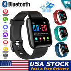 Bluetooth Smart Watch HeartRate Oxygen Blood Pressure Sport Fitness Tracker Xmas