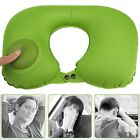 Inflatable U-Shaped Pillow with Buckle Neck Rest Portable Travel Cushion