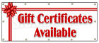 FixedPricegift certificates available banner sign signs holiday birthday cards