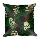 Skull Camo Basic Pillow Throw Cushion Decor Home Cases Covers 8 Sizes Ambesonne