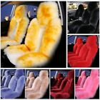 2× Car SUV Fuzzy Wool+Cashmere Seat Cover Cushion Sheepskin Touch Australian Kit $130.99 USD on eBay