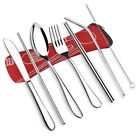 Portable Lunch Tableware Cutlery Set Stainless Steel Spoon Fork Travel Outdoor