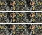 Woodland Camo Birthday ~ Edible 2D Fondant Cake 3 Strip Side Topper ~ D5445 *