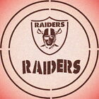 DOUBLE CIRLCE OAKLAND RAIDERS W/ TEAM NAME STENCIL SPORT FOOTBALL STENCILS $13.07 USD on eBay