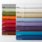 Luxury 100% Cotton Bed Sheets 600 Thread Count Soft Solid Deep Pocket Sheets image