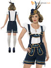Ladies Deluxe Lederhosen Oktoberfest Costume Adult Traditional Fancy Dress Women
