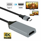 USB-C Type C to HDMI Adapter Cable For Samsung Galaxy S10 S9 S8 Note 9 8 MacBook