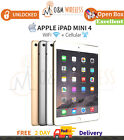 Apple iPad Mini 4 WiFi  Cellular All Colors/Capacity - Excellent Condition