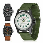 Mens Military Quartz Army Watch Date Nylon Strap Analog Dial Sports Wrist Watch image