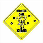 Redneck Girl Crossing Decal Zone Xing Tall chic hunting fishing rebel pride