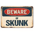 Beware Of Skunk Rustic Sign SignMission Classic Rust Wall Plaque Decoration