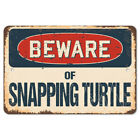 Beware Of Snapping Turtle Rustic Sign SignMission Classic Plaque Decoration