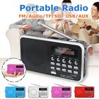 Portable Radio Receiver Digital FM USB TF AUX MP3 Player Speaker Rechargeable R