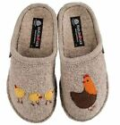 Haflinger Women's Gallina Boiled Wool Indoor Comfort Slipper - Natural/Linen