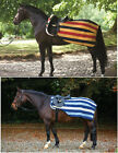 Horseware Rambo Newmarket COMPETITION Exercise Fleece Rug Sheet Gold/Navy S-XL