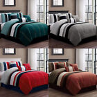 DCP Bedding Comforter Sets 7 PCS Oversized Strip Bed in Bag,QUEEN,KING,CAL KING image