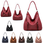 Ladies Faux Leather Front Zip Slouch Shoulder Bag Hobo Travel Handbag MA36541