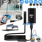 US Wireless Endoscope WiFi Borescope Inspection HD 1080P Camera 8 LED For iPhone
