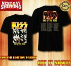 Kiss 2019 End of the Road World Tour concert T-shirt FREESHIP image