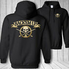 Billiards skull hooded sweatshirt, rack'em up pool shark stick crossbones hoodie $44.95 USD on eBay