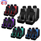 Car Seat Covers Full Set | Rear Bench Cover with 3 Zippers | Polyester 5 Colors $25.61 CAD on eBay