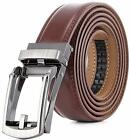 Marino Mens Genuine Leather Ratchet Dress Belt With Open Linxx Buckle