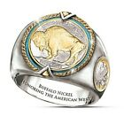 The Buffalo Nickel Hip Hop 925 Silver Rings for Men Free Shipping Size 7-12 image