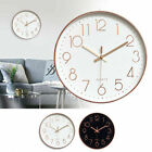 12'' Silent Wall Clock Non-Ticking Round Quartz Battery Powered Home Office