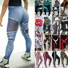 Women's Compression Yoga Pants 3D Print High Waist Leggings Fitness Gym Workout