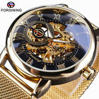 Fashion Men's Automatic Mechanical Stainless Steel Skeleton Sport Wrist Watch image