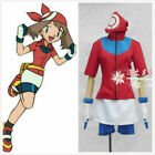 Pokemon May Trainer uniforms costume cosplay full set with gloves!free shipping