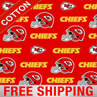 "Kansas City Chiefs NFL Cotton Fabric - 60"" Wide - Style# 6315 - Free Shipping $15.95 USD on eBay"