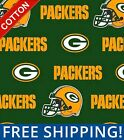 """Green Bay Packers NFL Cotton Fabric - 60"""" Wide - Style# 6317 - Free Shipping!! $15.95 USD on eBay"""