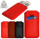 Mobile Phones Leather Pouch Gorilla Tech Hand Made Pull Up Case Cover +Card Slot