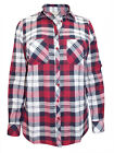 New Ladies Anthology Cotton Check Shirt Blouse Top Long Sleeve Plus Size 10-32
