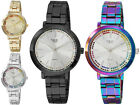 Milano Expressions Women's Fashion Rainbow Ring Stones Dial Dress Casual Watch image