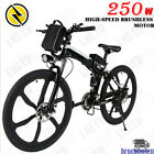 26'',16'' Electric Bike Foldable Mountain City Bicycle 36V Shimano 21 Speed 350W