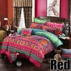 US Bohemian Duvet Cover Pillowcase Bedding Set Printed Twin Full Queen King Size image