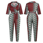 Womens Jumpsuit Casual Siamese Trousers V-neck Rompers Retro Clothing Floral