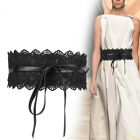 Ladies Waist Band Belts Lace Flower Bow knot Cinch Wide Waistband Belts Party