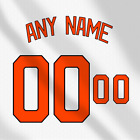 Baltimore Orioles White MLB jersey Any Name Any Number Pro Lettering Kit