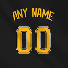 Pittsburgh Pirates Dark Black MLB jersey Any Name Any Number Pro Lettering Kit on Ebay